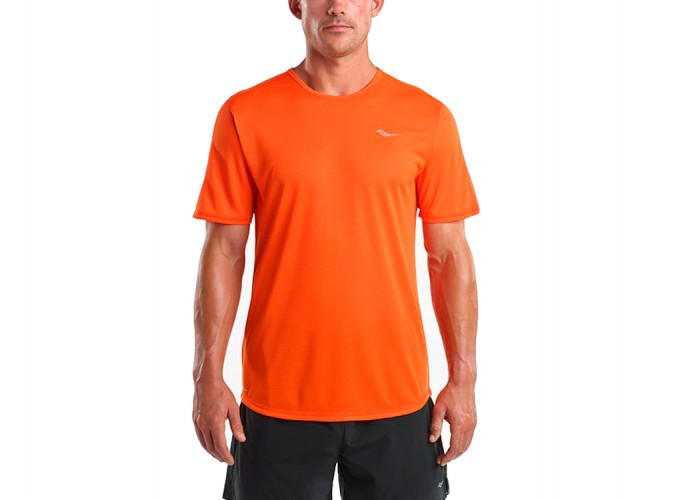 Беговая футболка Saucony HYDROLITE SHORT SLEEVE FLAME